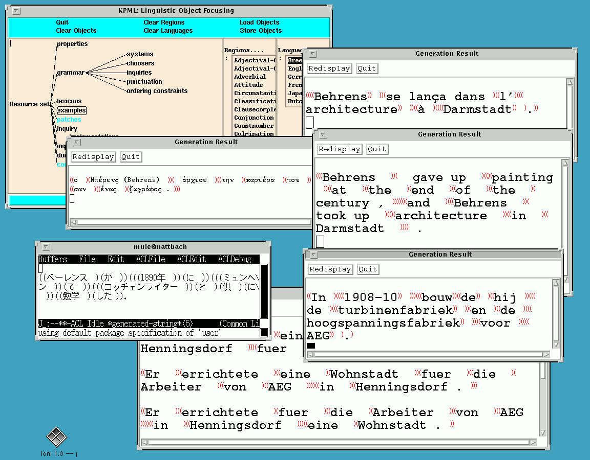 The KPML system: gratuitous multilinguality