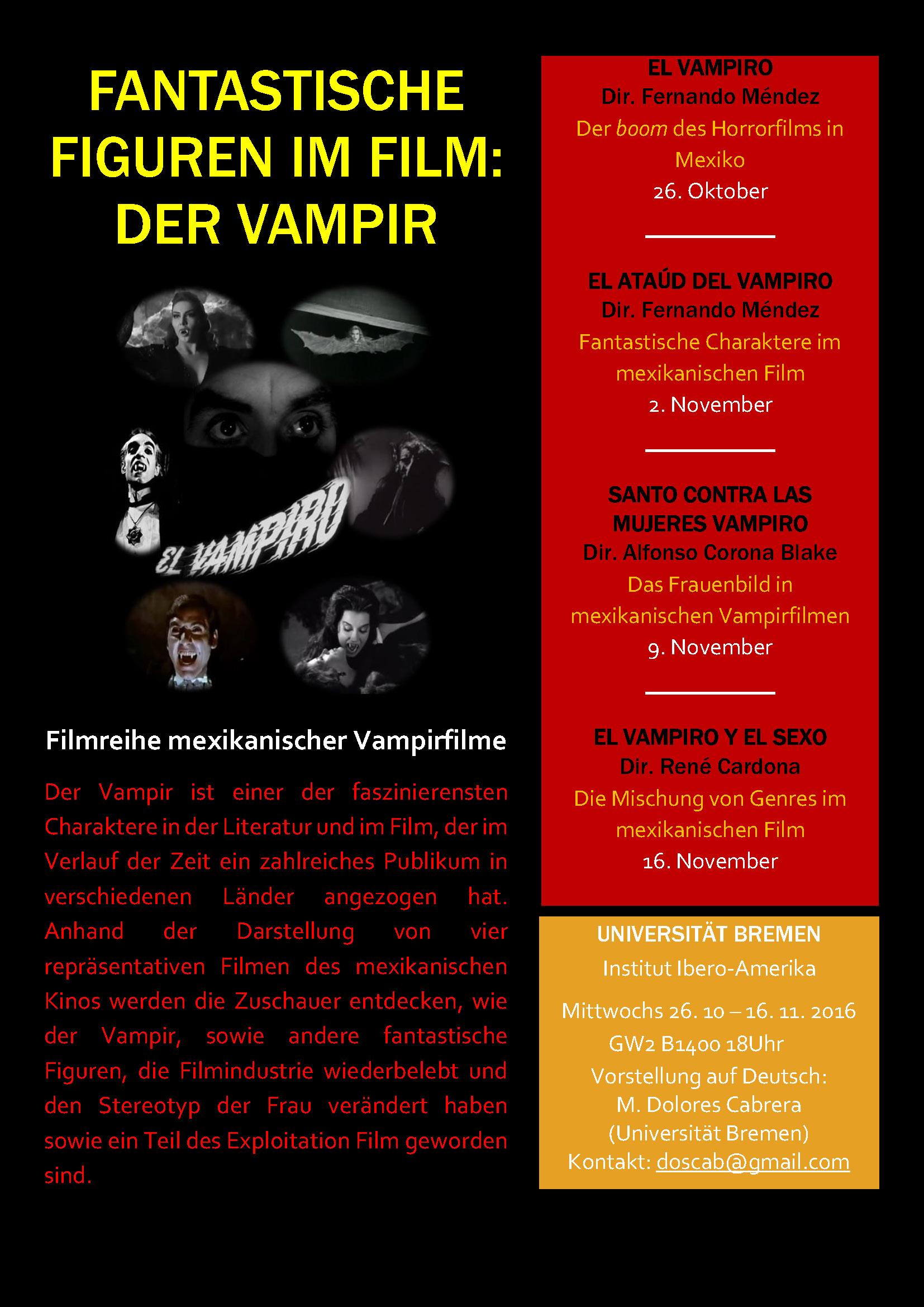 Filmreihe Mexikanische Vampirfilme an der Uni Bremen