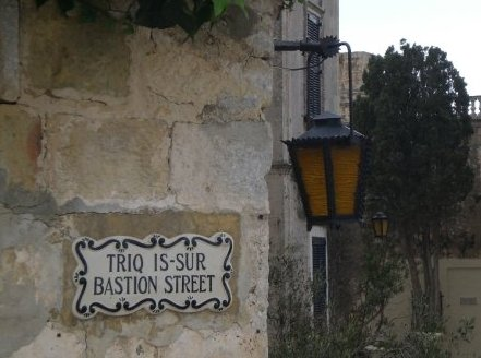 Street sign im Mdina